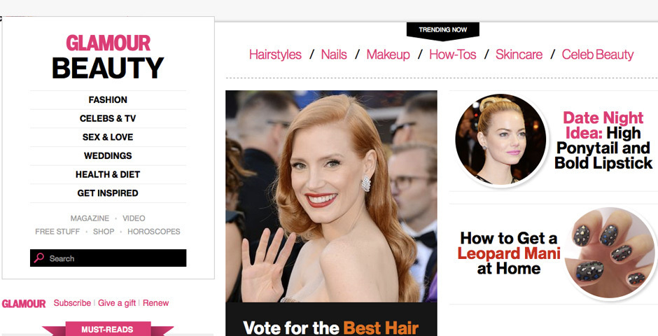 2012 Webby Winner - Glamour.com\'s Beauty Channel