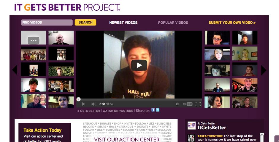 2012 Webby Winner - It Gets Better Project