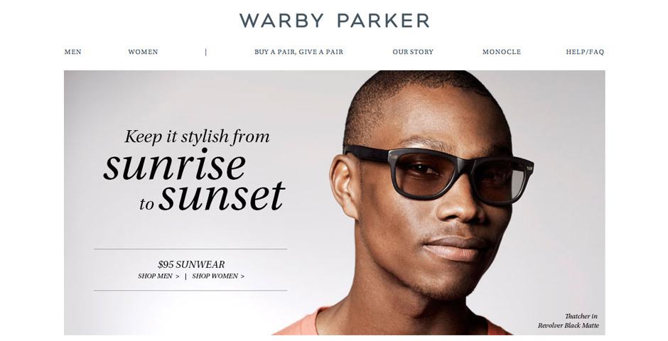 Webby Award Nominee - Warby Parker