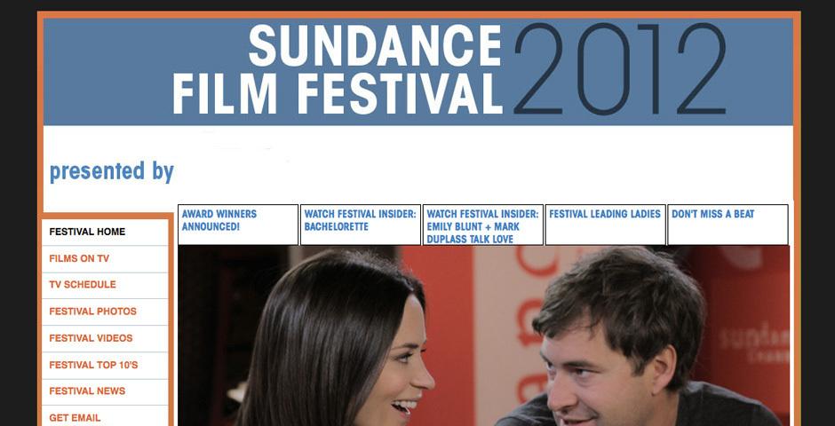 2012 Webby Winner - Sundance Channel - Sundance Film Festival