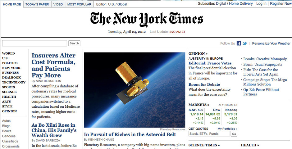Webby Award Nominee - The New York Times