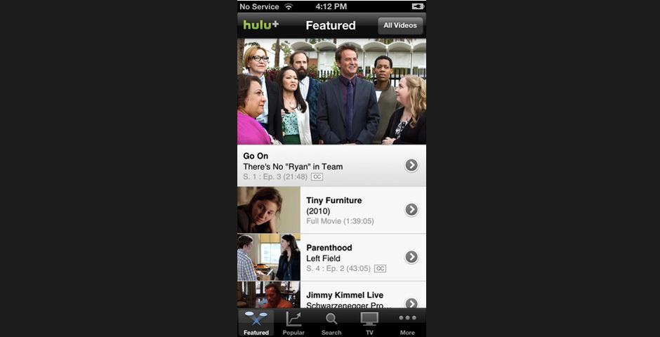 2012 Webby Winner - Hulu Plus
