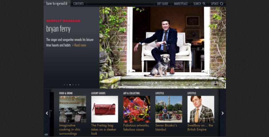 Webby Award Nominee - Financial Times How To Spend It Magazine app