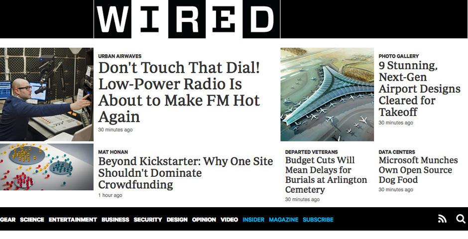 2012 Webby Winner - Wired