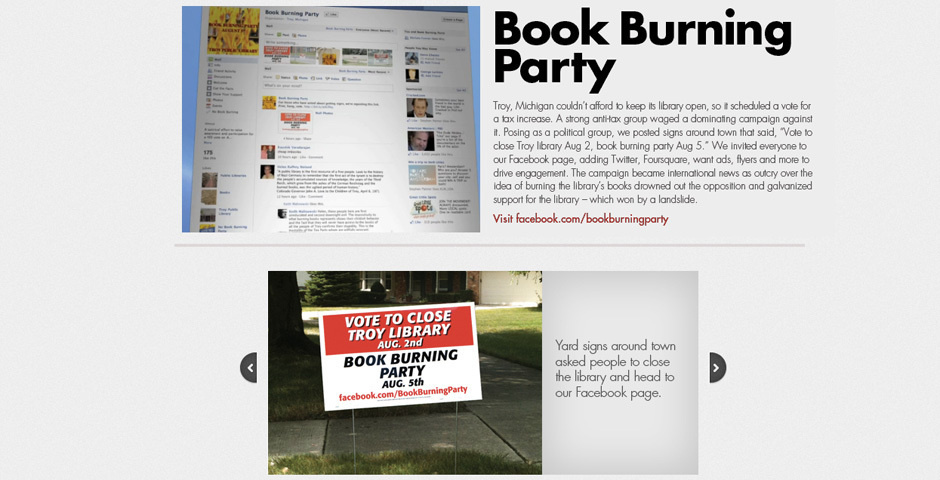 Webby Award Nominee - Book Burning Party