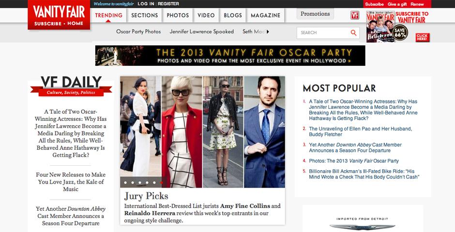 Nominee - Vanity Fair