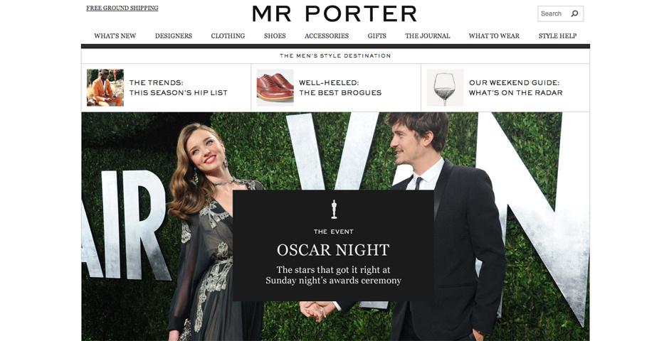 Webby Award Nominee - MR PORTER
