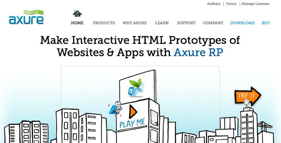 Nominee - Axure Web + UI Design