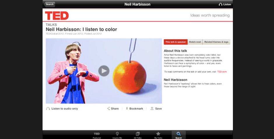 2012 Webby Winner - TED iPad App