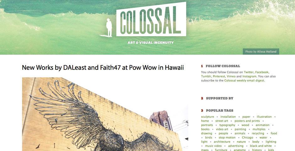 Webby Award Nominee - Colossal