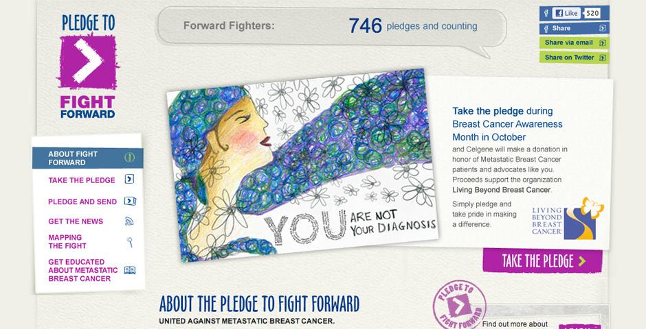 Webby Award Nominee - Pledge to Fight Forward