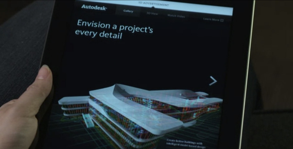 Nominee - Autodesk 3D iPad Ad