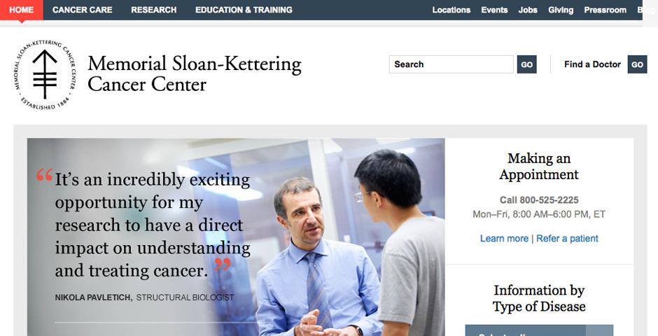Webby Award Nominee - Memorial Sloan-Kettering Cancer Center