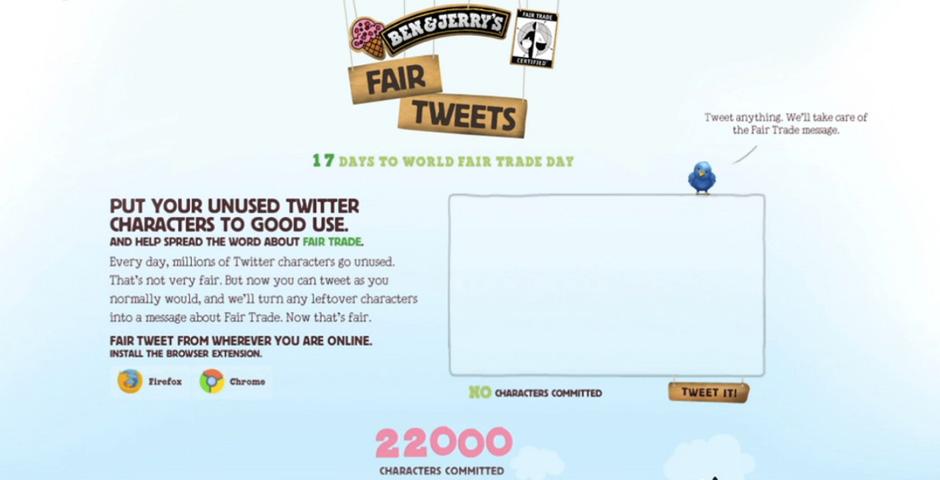 People's Voice / Webby Award Winner - Ben & Jerry's Fair Tweets