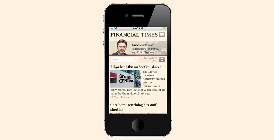 Nominee - The FT Web App