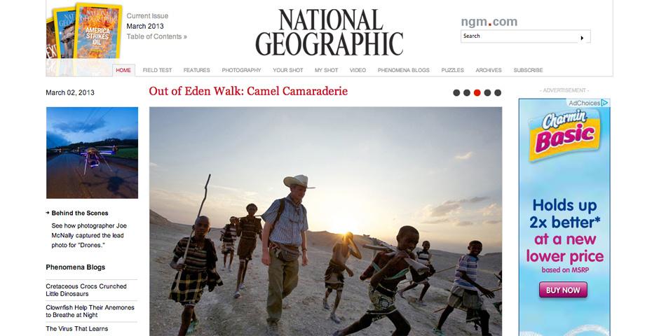 2012 Webby Winner - National Geographic Magazine Online