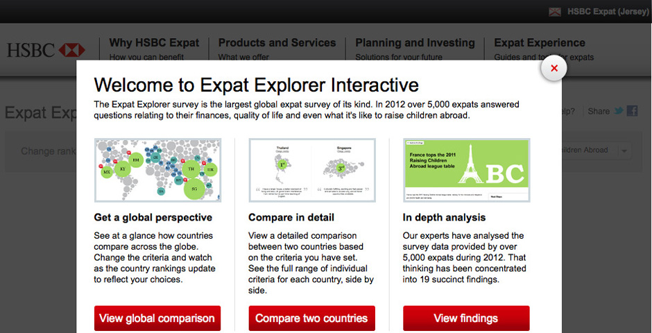 HSBC EXPAT EXPLORER -- The Webby Awards