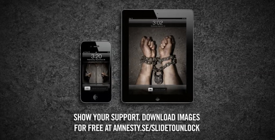 Honoree - Amnesty – Slide to unlock