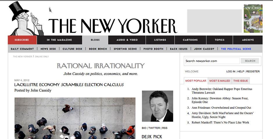 Webby Award Nominee - Rational Irrationality