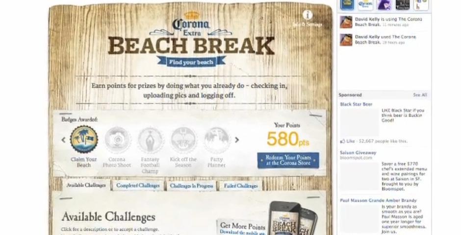 Webby Award Nominee - Corona Beach Break