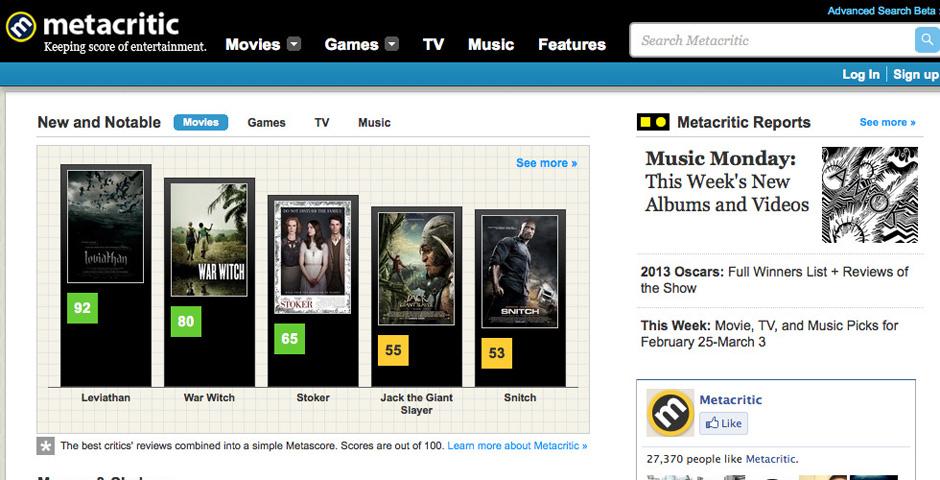 - Metacritic