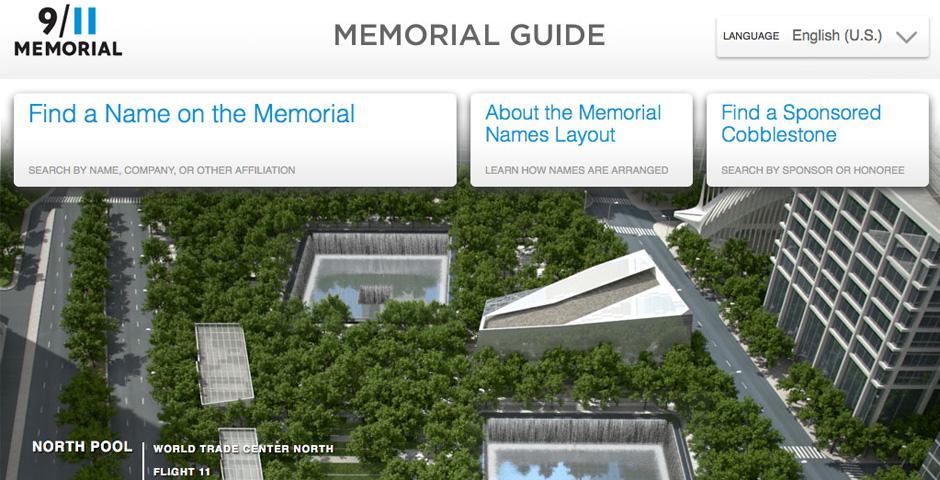 Webby Award Winner - 9/11 Memorial Guide