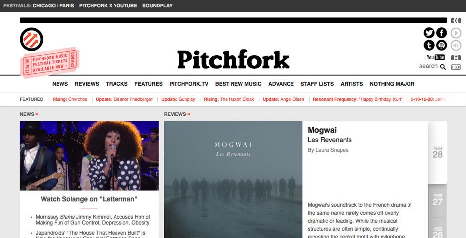 Webby Award Winner - Pitchfork