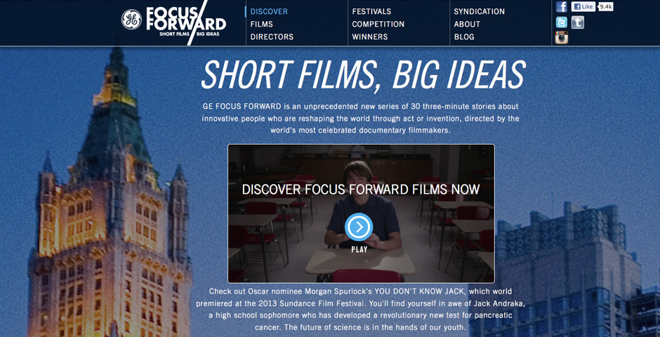 Webby Award Nominee - Focus Forward Films