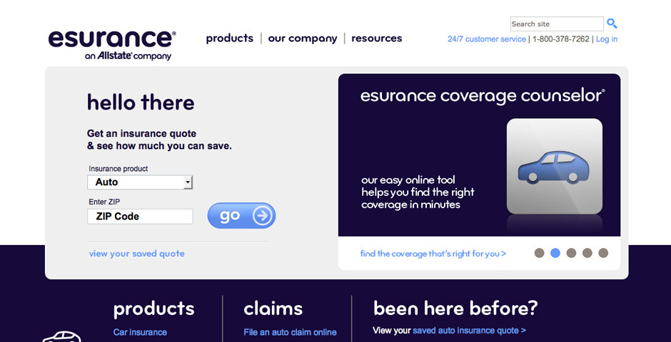 Nominee - Esurance Website