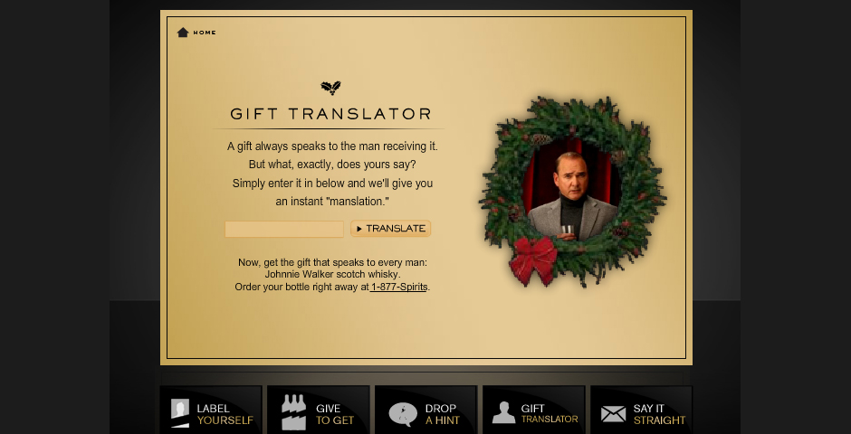 Nominee - Johnnie Walker Gift Translator