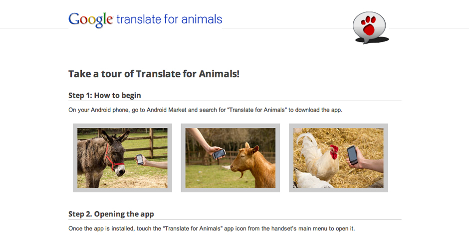 Nominee - Google Translate for Animals