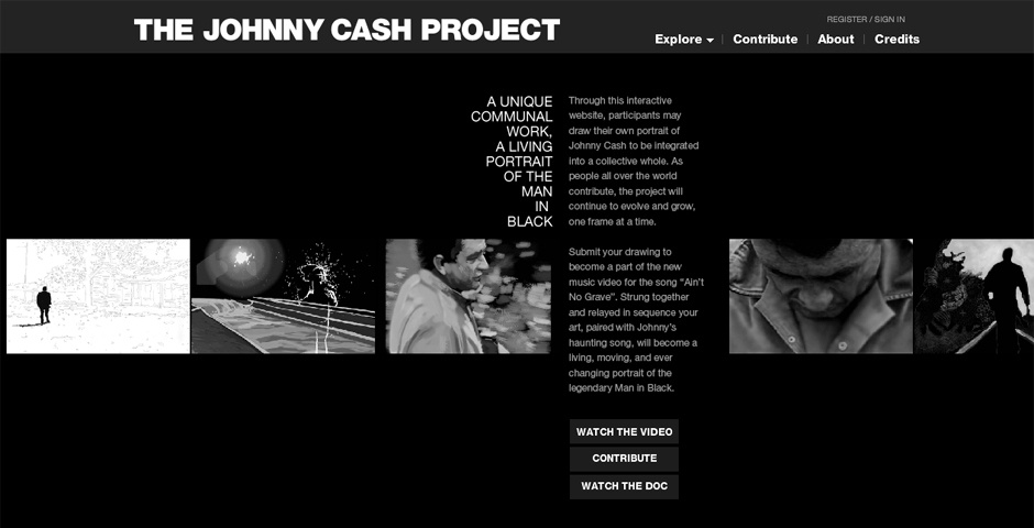 Webby Award Nominee - The Johnny Cash Project