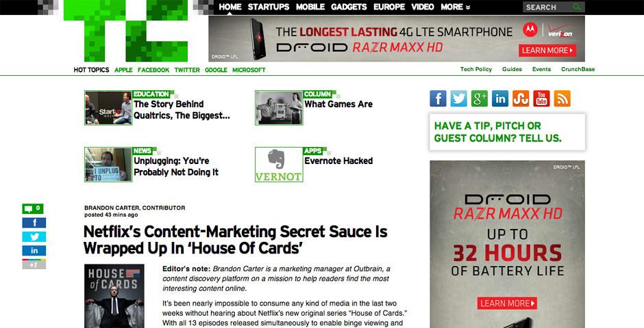 2011 Webby Winner - TechCrunch