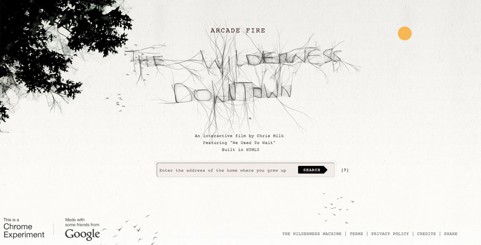 2011 Webby Winner - The Wilderness Downtown