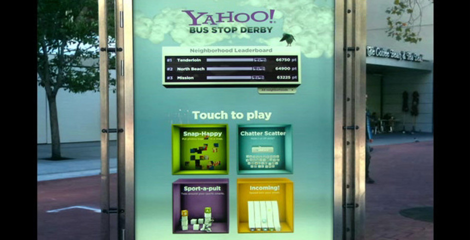 2011 Webby Winner - Yahoo! Bus Stop Derby