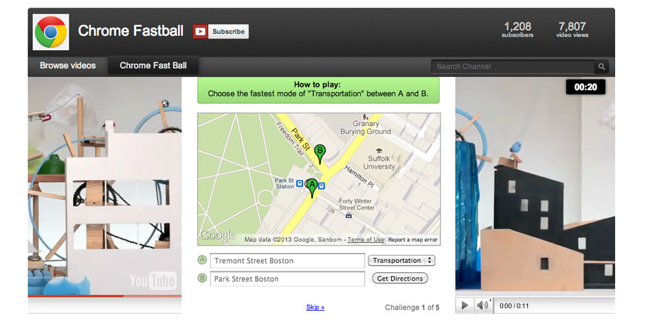 Webby Award Winner - Google Chrome Fastball