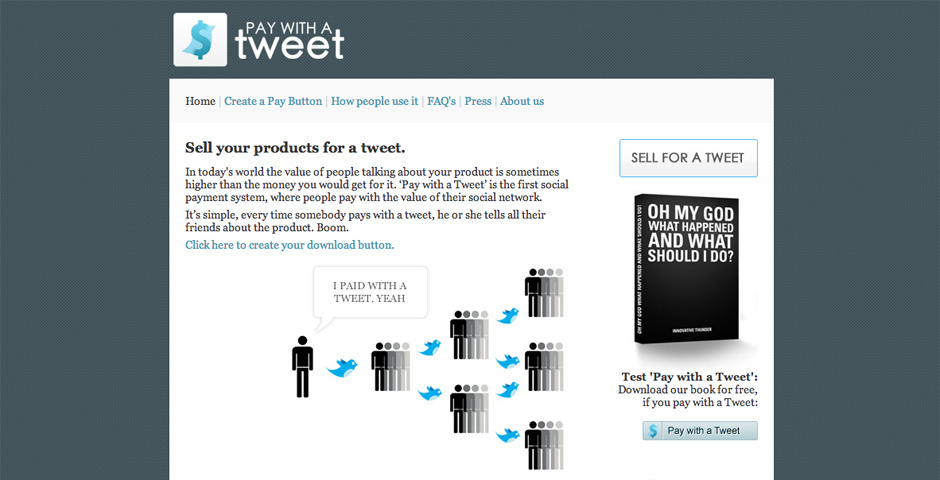 Webby Award Nominee - Pay With A Tweet