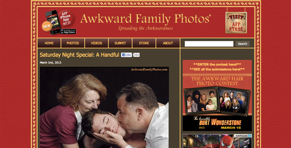 People's Voice / Webby Award Winner - Awkward Family Photos