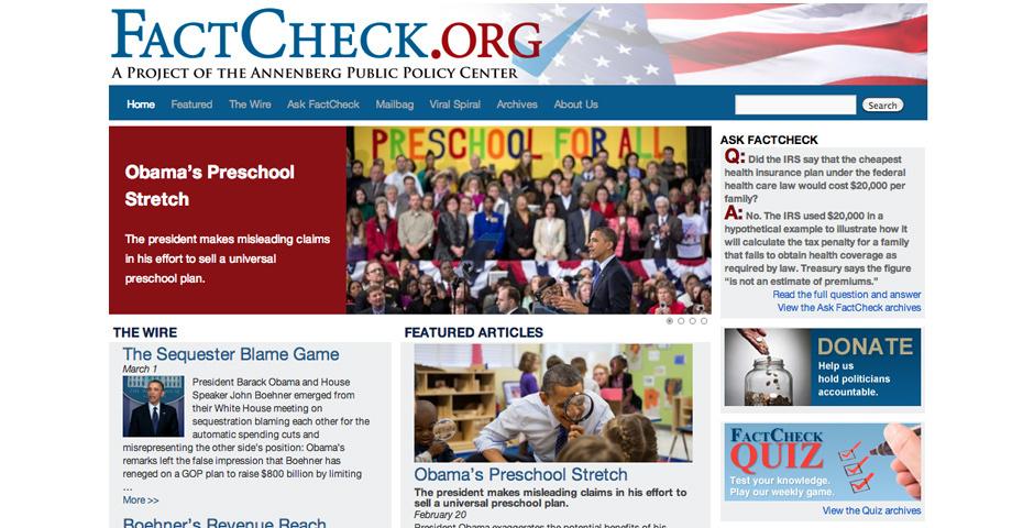 2011 Webby Winner - FactCheck.org