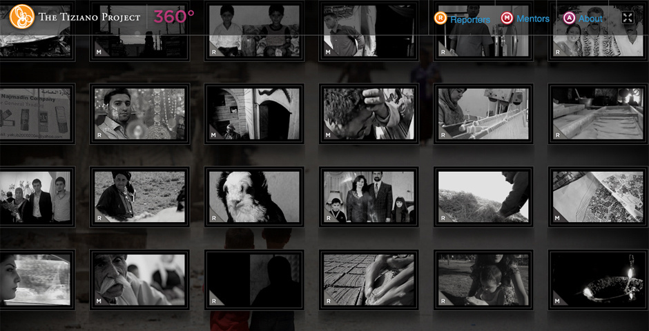 Webby Award Nominee - The Tiziano Project   360 Kurdistan
