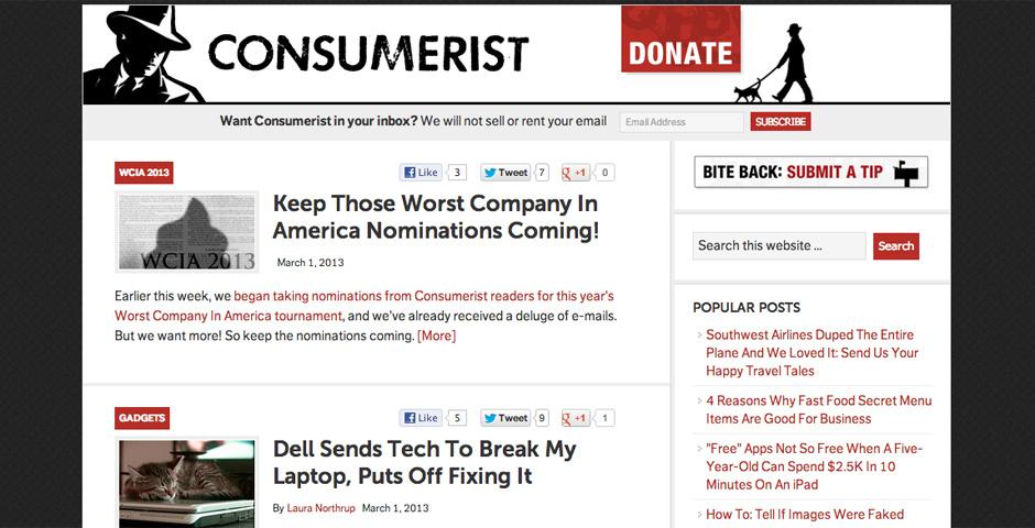 Webby Award Nominee - The Consumerist