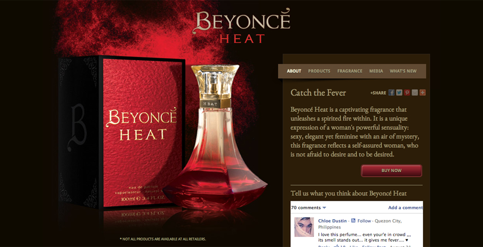 Nominee - COTY: Beyonce Heat