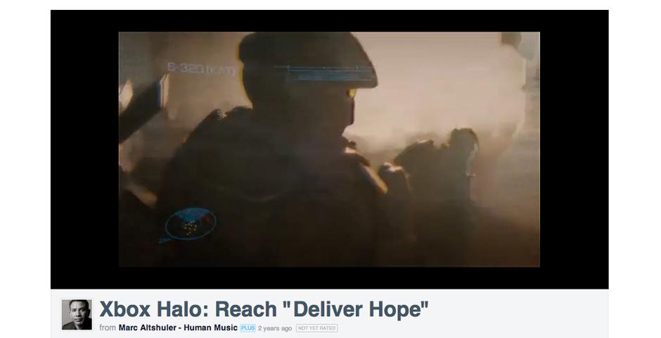 Webby Award Nominee - XBox Halo Reach - Deliver Hope