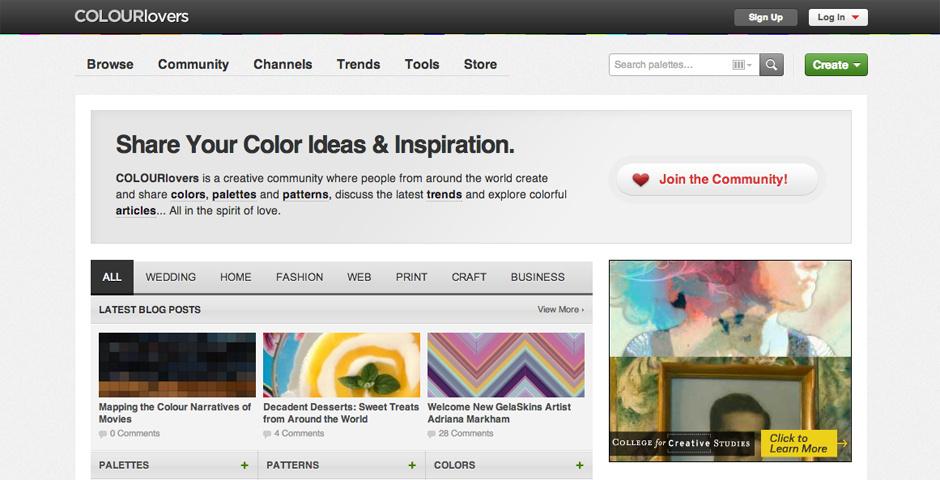Webby Award Nominee - COLOURlovers :: Color + Design Community
