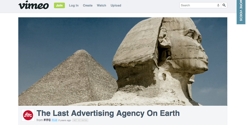 Webby Award Nominee - The Last Advertising Agency On Earth