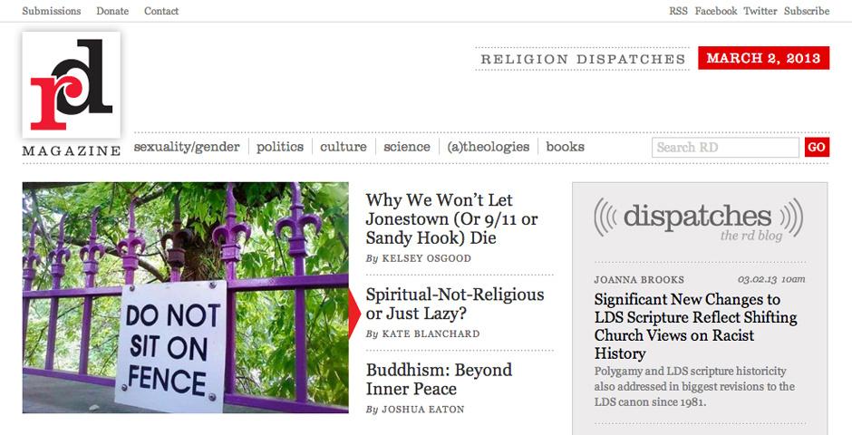Webby Award Nominee - Religion Dispatches