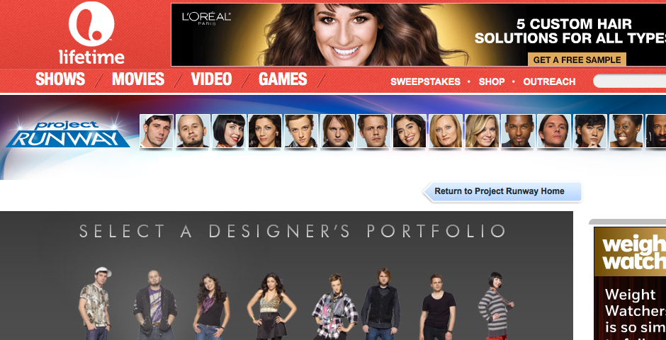 Nominee - Project Runway Designer Portfolio