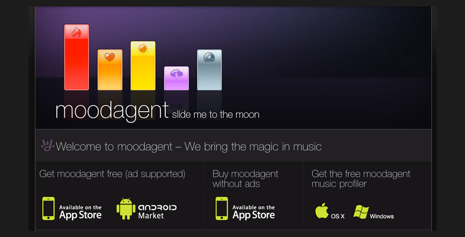Nominee - Moodagent – Automatic Playlist DJ for your music, your mood