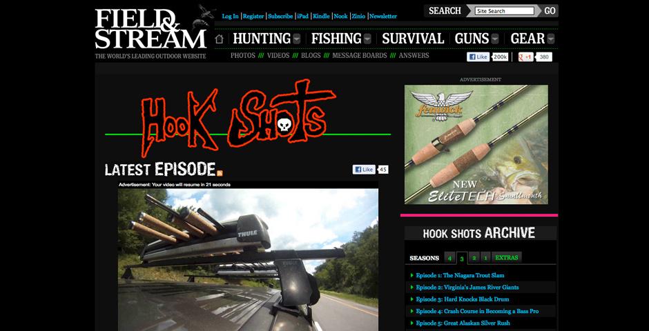 Webby Award Nominee - Field & Stream Hook Shots