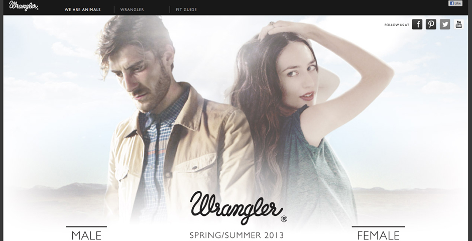 Webby Award Winner - Wrangler Blue Bell Spring / Summer 2010 Collection